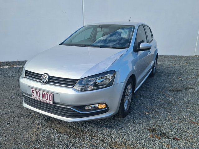 Used Volkswagen Polo 6R MY15 81TSI DSG Comfortline North Rockhampton, 2015 Volkswagen Polo 6R MY15 81TSI DSG Comfortline Silver 7 Speed Sports Automatic Dual Clutch