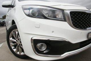 2016 Kia Carnival YP MY16 Platinum White 6 Speed Sports Automatic Wagon.