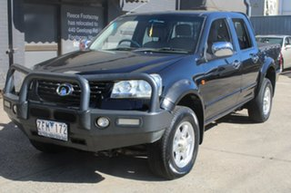 2012 Great Wall V200 K2 (4x4) Black 6 Speed Manual Dual Cab Utility
