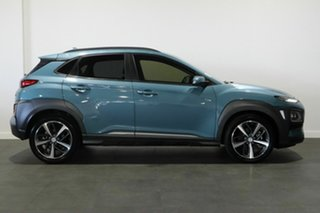 2019 Hyundai Kona OS.2 MY19 Highlander D-CT AWD Blue 7 Speed Sports Automatic Dual Clutch Wagon
