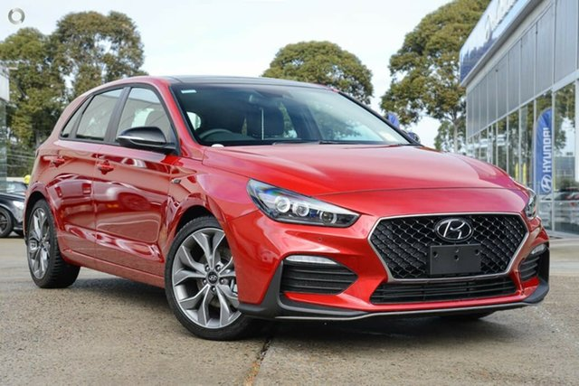 New Hyundai i30 PD.V4 MY21 N Line D-CT Premium Nailsworth, 2020 Hyundai i30 PD.V4 MY21 N Line D-CT Premium Fiery Red 7 Speed Sports Automatic Dual Clutch