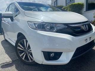 2014 Honda Jazz GF MY15 VTi-L White 1 Speed Constant Variable Hatchback.