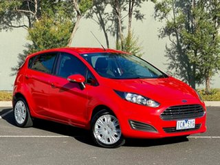 2014 Ford Fiesta WZ Ambiente PwrShift Red 6 Speed Sports Automatic Dual Clutch Hatchback.