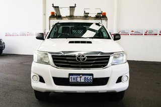 2012 Toyota Hilux KUN26R MY12 SR (4x4) Glacier White 5 Speed Manual Cab Chassis