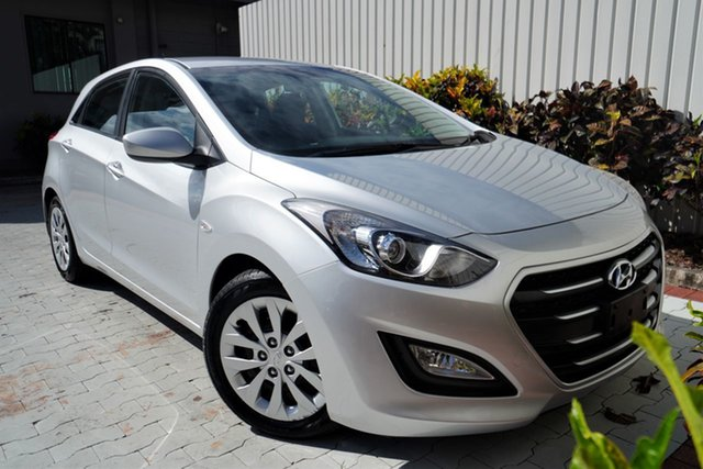 Used Hyundai i30 GD3 Series II MY16 Active Cairns, 2015 Hyundai i30 GD3 Series II MY16 Active Silver 6 Speed Sports Automatic Hatchback