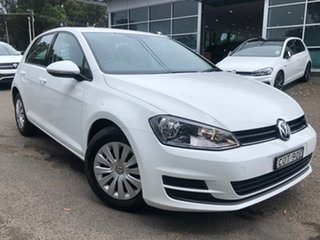 2013 Volkswagen Golf VII 90TSI DSG White 7 Speed Sports Automatic Dual Clutch Hatchback.
