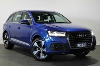 2017 Audi Q7 4M MY17 TDI Tiptronic Quattro Blue 8 Speed Sports Automatic Wagon.