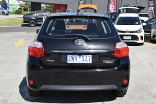 2010 Toyota Corolla ZRE152R MY11 Conquest Black 6 Speed Manual Hatchback