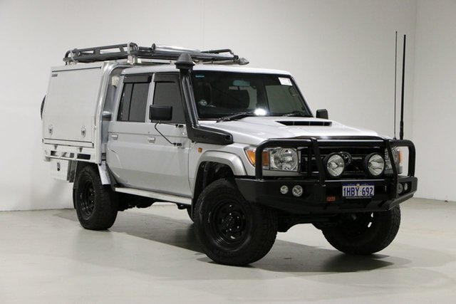 Used Toyota Landcruiser VDJ79R GXL (4x4) Bentley, 2017 Toyota Landcruiser VDJ79R GXL (4x4) Silver 5 Speed Manual Double Cab Chassis