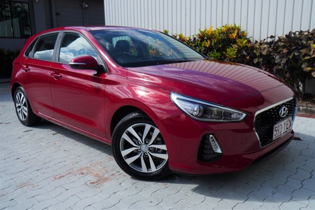 Used Hyundai i30 PD MY18 Active Cairns, 2018 Hyundai i30 PD MY18 Active Red 6 Speed Sports Automatic Hatchback