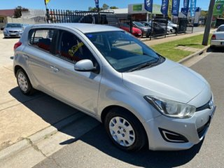 2014 Hyundai i20 PB MY14 Active Silver 4 Speed Automatic Hatchback.