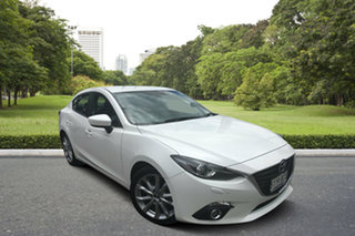 2014 Mazda 3 BM5238 SP25 SKYACTIV-Drive GT White 6 Speed Sports Automatic Sedan.