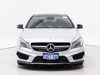 2013 Mercedes-Benz CLA45 117 AMG Silver 7 Speed Automatic Coupe.