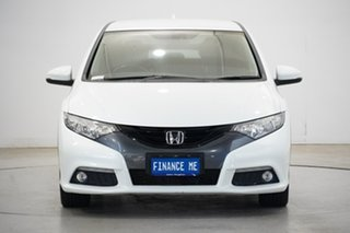 2013 Honda Civic 9th Gen MY13 VTi-LN White 5 Speed Sports Automatic Hatchback.