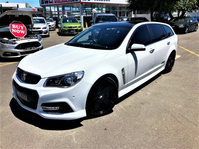 Used Holden Commodore VF MY14 SS V Sportwagon Seaford, 2013 Holden Commodore VF MY14 SS V Sportwagon White 6 Speed Sports Automatic Wagon