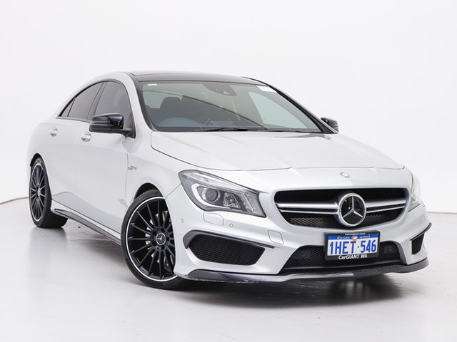 Used Mercedes-Benz CLA45 117 AMG, 2013 Mercedes-Benz CLA45 117 AMG Silver 7 Speed Automatic Coupe