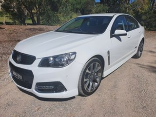 2015 Holden Commodore VF SS V White Sports Automatic Sedan.