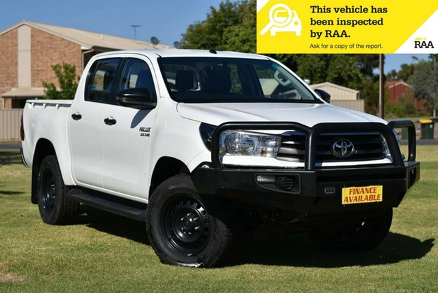 Used Toyota Hilux GUN126R SR Double Cab Cheltenham, 2017 Toyota Hilux GUN126R SR Double Cab White 6 Speed Sports Automatic Utility