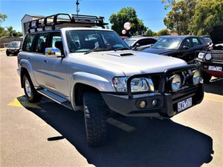 2012 Nissan Patrol Y61 GU 8 ST Silver 5 Speed Manual Wagon.