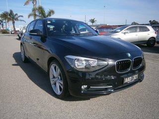 2013 BMW 1 Series F20 118d Black 8 Speed Sports Automatic Hatchback.