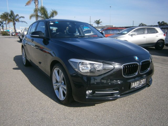 Used BMW 1 Series F20 118d Cheltenham, 2013 BMW 1 Series F20 118d Black 8 Speed Sports Automatic Hatchback