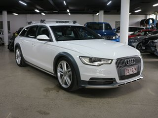 2013 Audi A6 4G MY14 Allroad S Tronic Quattro White 7 Speed Sports Automatic Dual Clutch Wagon.