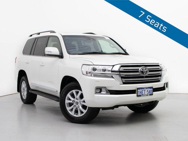Used Toyota Landcruiser VDJ200R MY16 Sahara (4x4), 2018 Toyota Landcruiser VDJ200R MY16 Sahara (4x4) Pearl White 6 Speed Automatic Wagon