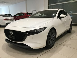 2020 Mazda 3 BP2H76 G20 SKYACTIV-MT Evolve Snowflake White 6 Speed Manual Hatchback