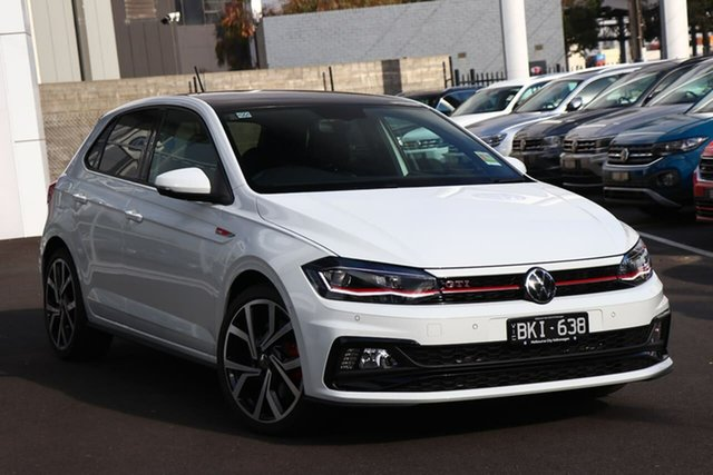 Demo Volkswagen Polo AW MY20 GTI DSG Port Melbourne, 2020 Volkswagen Polo AW MY20 GTI DSG White 6 Speed Sports Automatic Dual Clutch Hatchback