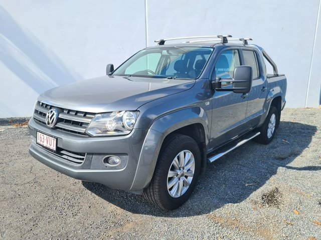 Used Volkswagen Amarok 2H MY14 TDI420 4Motion Perm Highline North Rockhampton, 2013 Volkswagen Amarok 2H MY14 TDI420 4Motion Perm Highline Grey 8 Speed Automatic Utility