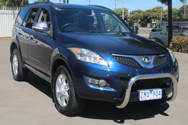 Used Great Wall X200 CC6461KY MY11 (4x4) West Footscray, 2012 Great Wall X200 CC6461KY MY11 (4x4) Dark Blue 5 Speed Automatic Wagon