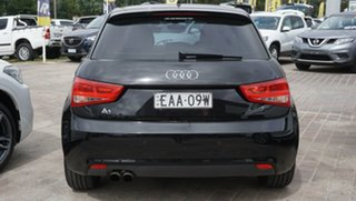 2014 Audi A1 8X MY14 Attraction Sportback S Tronic Black 7 Speed Sports Automatic Dual Clutch