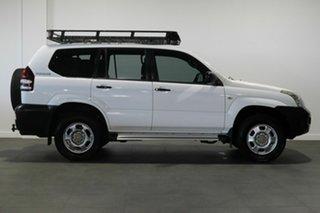 2003 Toyota Landcruiser Prado GRJ120R GX White 4 Speed Automatic Wagon.