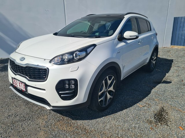 Used Kia Sportage QL MY17 GT-Line AWD North Rockhampton, 2017 Kia Sportage QL MY17 GT-Line AWD White 6 Speed Sports Automatic Wagon