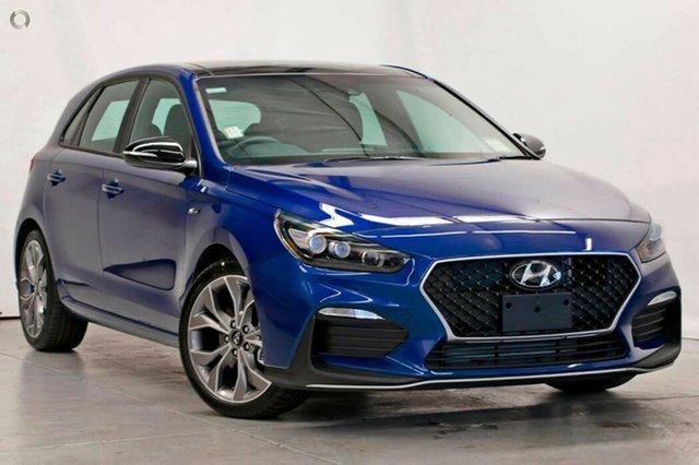 New Hyundai i30 PD.V4 MY21 N Line D-CT Nailsworth, 2020 Hyundai i30 PD.V4 MY21 N Line D-CT Intense Blue 7 Speed Sports Automatic Dual Clutch Hatchback