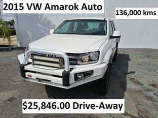 2015 Volkswagen Amarok 2H MY15 TDI420 4Motion Perm Trendline White 8 Speed Automatic Cab Chassis.