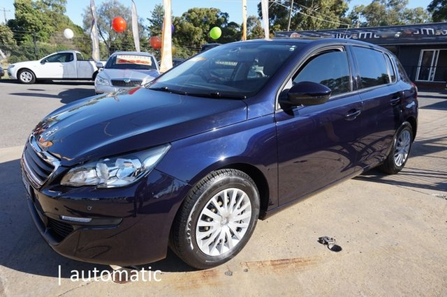 Used Peugeot 308 T9 Access Dandenong, 2014 Peugeot 308 T9 Access Twilight Blue 6 Speed Sports Automatic Hatchback