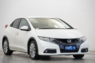 2013 Honda Civic 9th Gen MY13 VTi-LN White 5 Speed Sports Automatic Hatchback