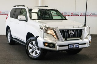 2014 Toyota Landcruiser Prado KDJ150R MY14 GXL Glacier White 5 Speed Sports Automatic Wagon.