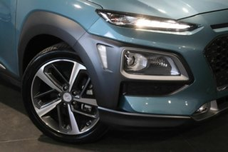 2019 Hyundai Kona OS.2 MY19 Highlander D-CT AWD Blue 7 Speed Sports Automatic Dual Clutch Wagon.