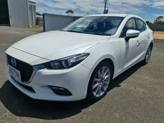 2017 Mazda 3 BN5238 SP25 SKYACTIV-Drive White 6 Speed Sports Automatic Sedan.
