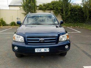 2004 Toyota Kluger MCU28R CVX (4x4) Blue 5 Speed Automatic Wagon.