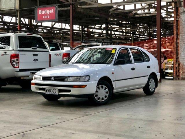 Used Toyota Corolla AE101R CSi Seca Mile End South, 1996 Toyota Corolla AE101R CSi Seca White 4 Speed Automatic Liftback
