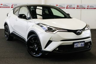 2017 Toyota C-HR NGX50R Koba (AWD) Crystal Pearl & Black Roof Continuous Variable Wagon.
