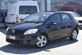 2010 Toyota Corolla ZRE152R MY11 Conquest Black 6 Speed Manual Hatchback.