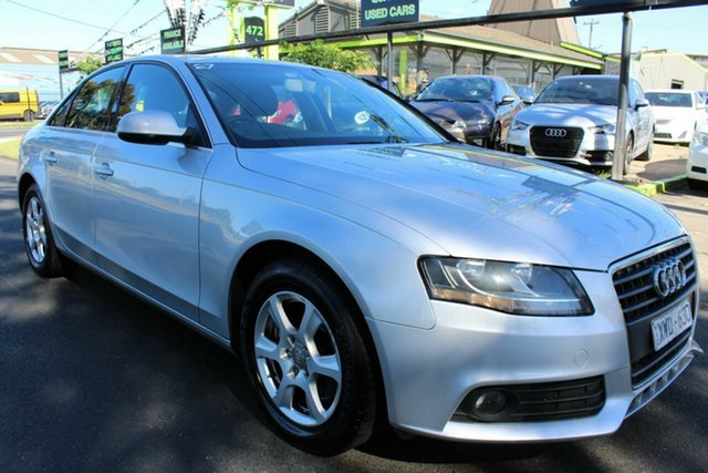 Used Audi A4 B8 8K MY10 Multitronic West Footscray, 2010 Audi A4 B8 8K MY10 Multitronic Silver 8 Speed Constant Variable Sedan