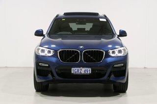 2019 BMW X3 G01 xDrive20d M Sport Blue 8 Speed Automatic Wagon.