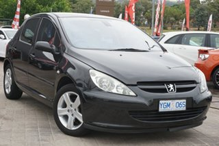 2003 Peugeot 307 T5 MY03 XS Black 4 Speed Sports Automatic Hatchback.