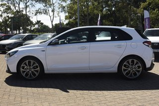 2020 Hyundai i30 PD.V4 MY21 N Line D-CT White 7 Speed Sports Automatic Dual Clutch Hatchback