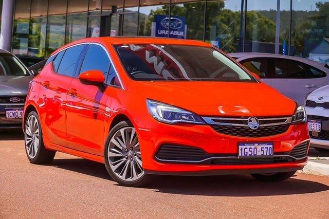Used Holden Astra BK MY18.5 RS-V Gosnells, 2018 Holden Astra BK MY18.5 RS-V Red 6 Speed Sports Automatic Hatchback
